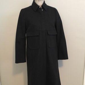 J. Crew Military Inspired Wool Zip Jacket Coat